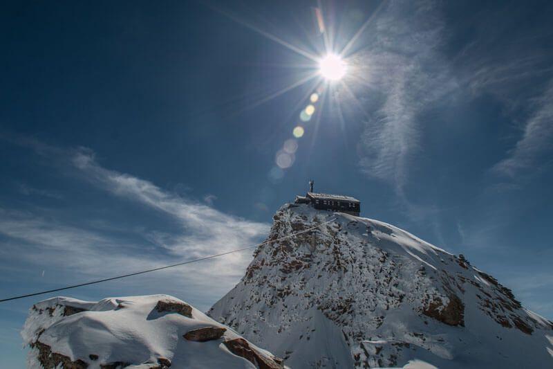 Zittelhaus am Sonnblick, Schnee und Sonnenschein
