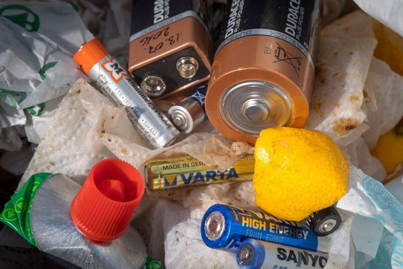 Batterie im Restmüll
