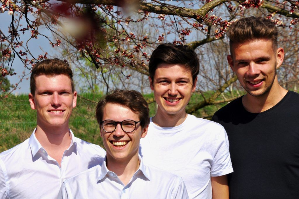 Sujetbild: Das Kern Tec Team (von links): Michael Beitl, Luca Fichtinger, Sebastian Jeschko und Fabian Wagesreither.