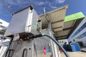 Wasserstoffauto Tankstelle