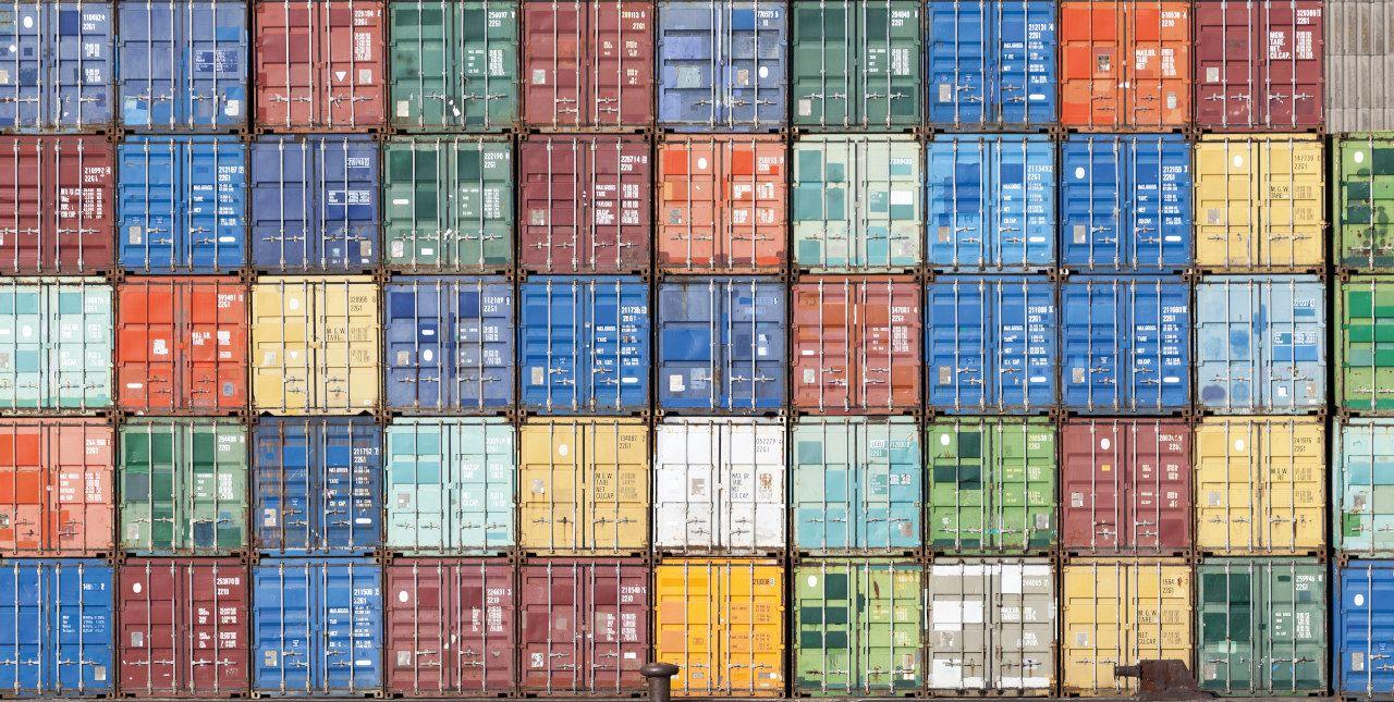 Container von exportierenden Unternehmen