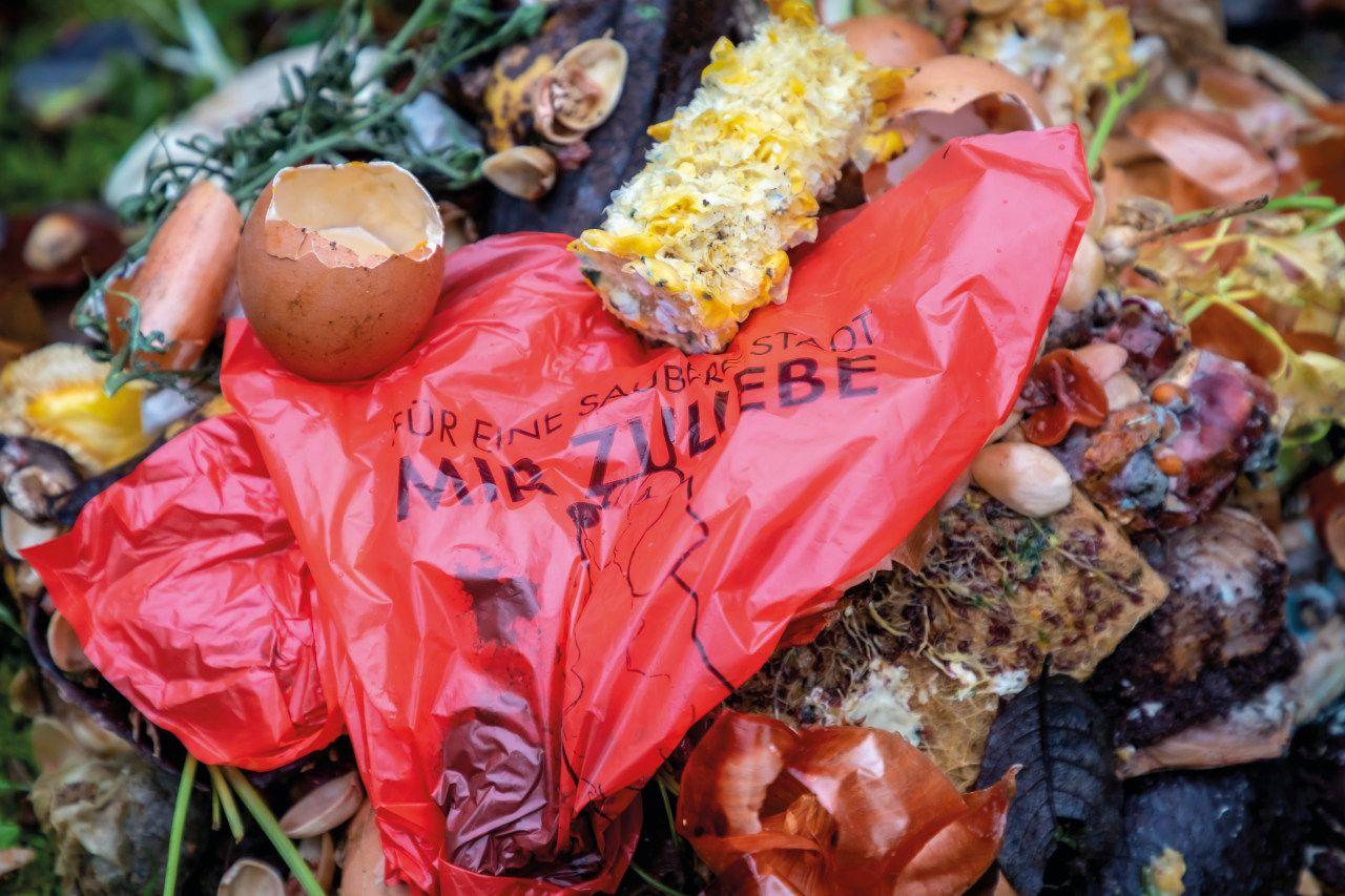 Sackerl fürs Gackerl im Kompost